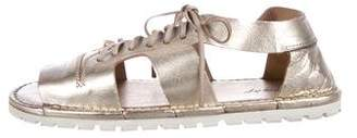 Marsèll Metallic Leather Sandals