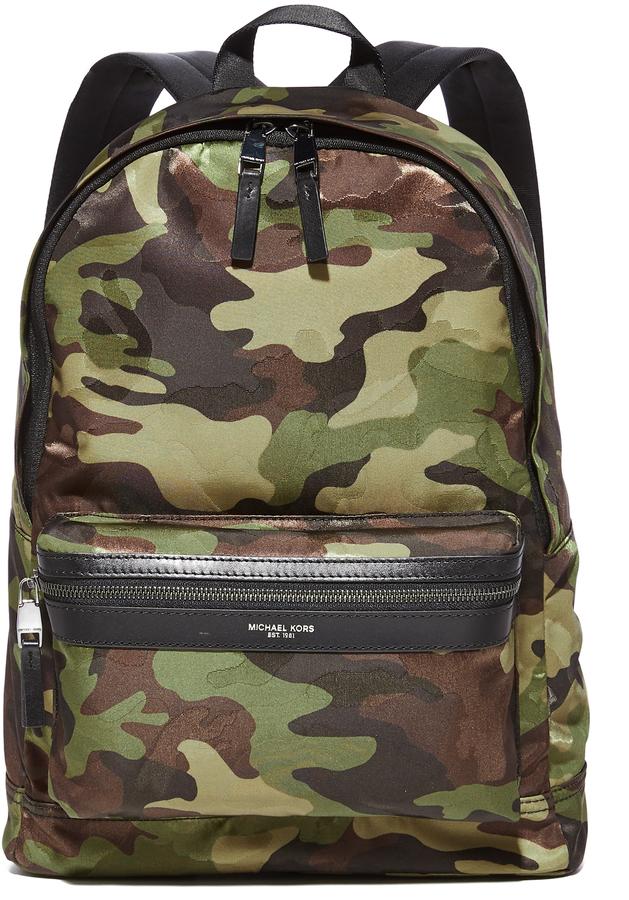Michael Kors Kent Camo Nylon Backpack