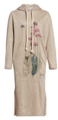 Loewe Linen Botanical Hoodie Dress