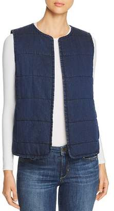 Eileen Fisher Quilted Denim Vest