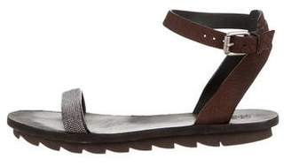 Brunello Cucinelli Monili Ankle Strap Sandals