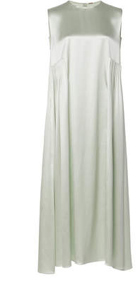 ADAM by Adam Lippes Silk Satin Crepe Pleated Midi Dress