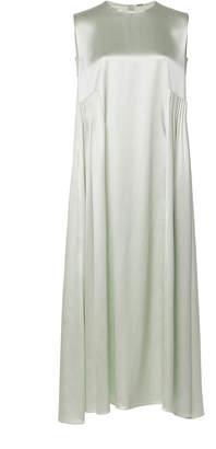 ADAM by Adam Lippes Silk Satin Crepe Pleated Midi Dress