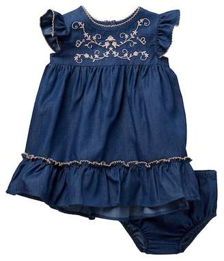 Iris & Ivy Flutter Sleeve Lightweight Dress (Baby Girls)