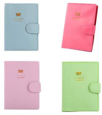 Girl12Queen Passport Holder Cover Ticket Card Case Sweet Bowknot Pu Leather Travel Wallet