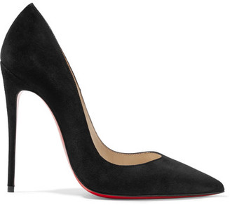 Christian Louboutin - So Kate 120 Suede Pumps - Black $675 thestylecure.com