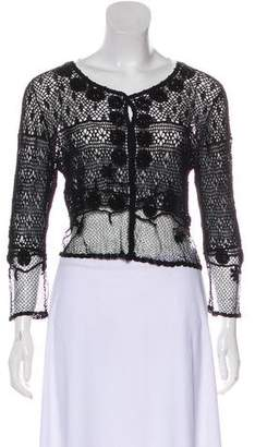 John Galliano Long Sleeve Lace Cardigan