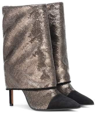 129ec0cf3f03e9 Balmain Babette metallic glitter boots