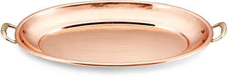 One Kings Lane Oval Copper Platter with Handles - 13""