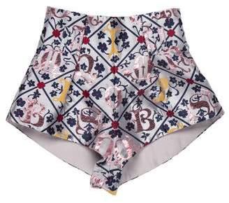 Mary Katrantzou Printed Mini Shorts w/ Tags