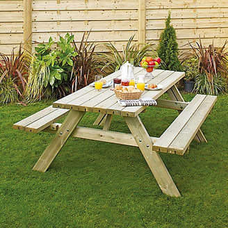 Grange Fencing Wooden Garden Table with Foldable Seats