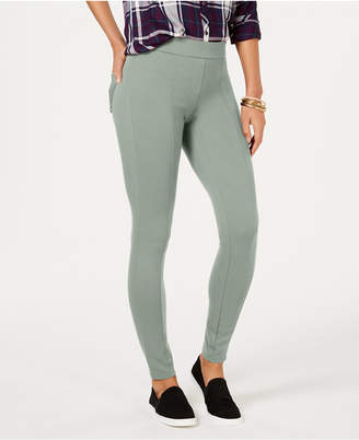 Style&Co. Style & Co Petite Seam-Front Ponte-Knit Leggings