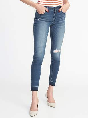Old Navy Mid-Rise Distressed Rockstar Super Skinny Ankle Jeans for Women