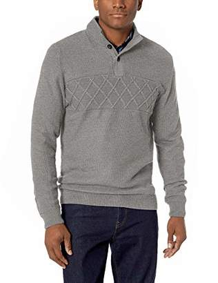 Chaps Men's Chest Texture Mock Neck Long Sleeve Sweater