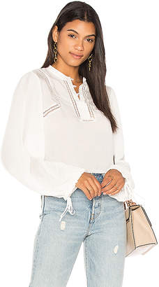 ANINE BING Plisse Flowy Blouse in White. - size M (also in S,XS)