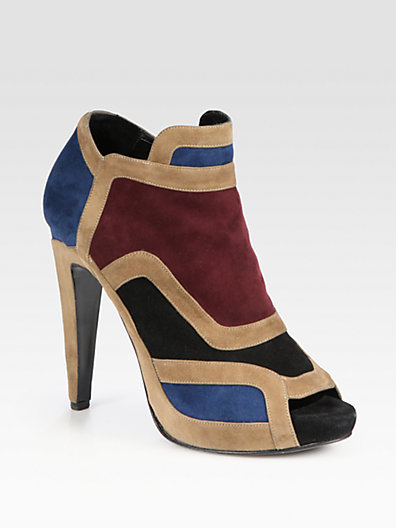Pierre Hardy Colorblock Suede Ankle Boots