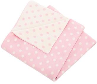One Kings Lane Dottie Baby Blanket - Pink/White