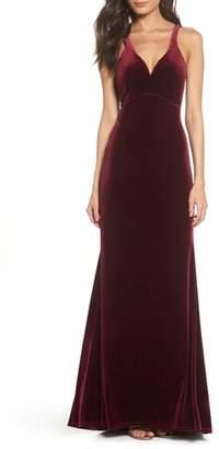 Sequin Hearts Sweetheart Velvet Gown