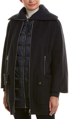 Moncler Wool & Cashmere-Blend Coat