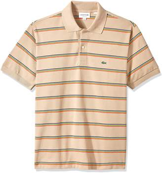 Lacoste Men's Short Sleeve Striped Pique Regular Fit Polo, PH4565