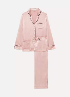 Olivia von Halle - Coco Silk-satin Pajama Set - Blush