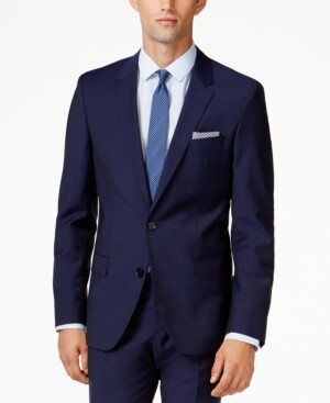 HUGO BOSS Hugo Men's Blue Extra Slim-Fit Jacket