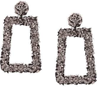 Sachin + Babi floral frame earrings