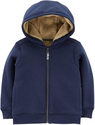 Carter's Toddler Boy Velboa Lined Hoodie