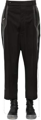 Rick Owens Cotton Canvas Pants W/ Coated Details