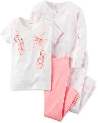 Carter's Toddler Girls' 4-Pc. Ballerina Pajamas Set $34 thestylecure.com