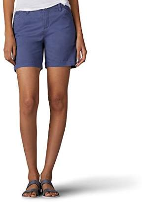 Lee Women's Straight Fit Tailored Chino Tuxedo Short