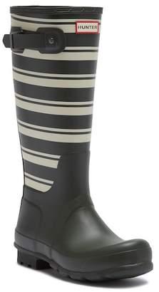 Hunter Garden Stripe Tall Rain Boot