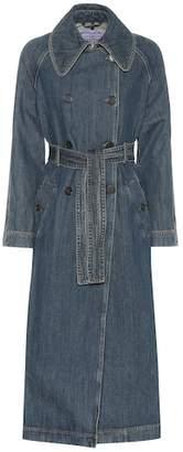 ALEXACHUNG Denim trench coat
