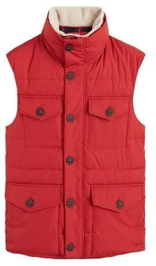 MANGO Detachable faux-shearling neck gilet