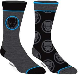 Bioworld Marvel Comics Black Panther Movie 2 Pairs of Crew Socks Adult Mens 10-13