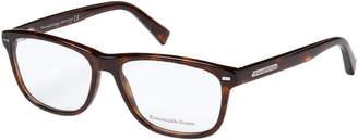 Ermenegildo Zegna EZ5001 Tortoiseshell-Look Rectangular Optical Frames