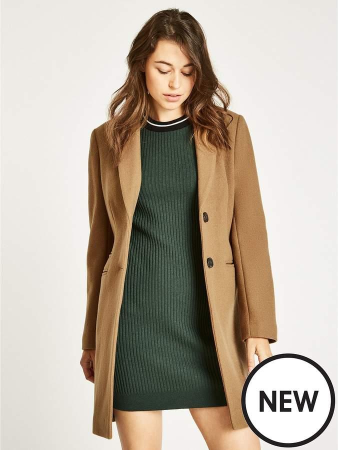 Chelsea Wool Blend Overcoat - Camel