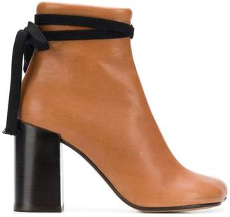 MM6 MAISON MARGIELA block heel ankle boots