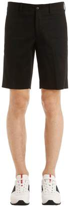Prada Stretch Cotton Gabardine Chino Shorts