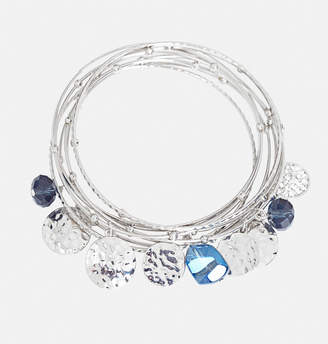 Avenue Blue Charm Bangle Bracelet Set