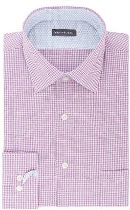 Van Heusen Long Sleeve Broadcloth Checked Dress Shirt
