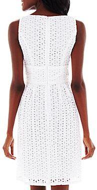 JCPenney American Living Sleeveless Eyelet Dress