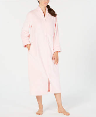 Charter Club Dimple-Textured Long Zip Robe