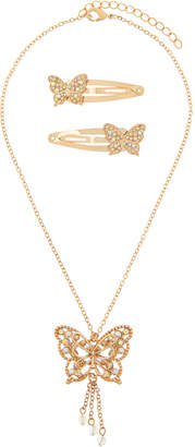Monsoon Pearly Sparkle Butterfly Jewellery Set