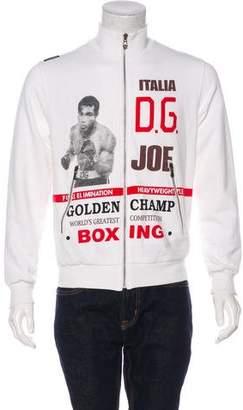 Dolce & Gabbana Joe Louis Zip-Up Sweater