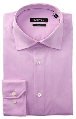 Bugatchi Pink Shaped Fit Dress Shirt