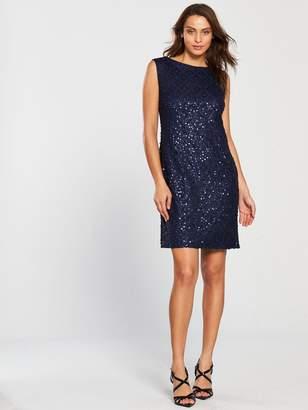 Wallis Sequin Lace Shift Dress