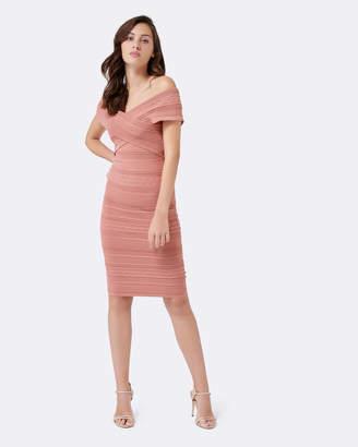 Forever New Koko Cross Front Bardot Dress
