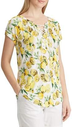 Chaps Petite Printed Short-Sleeve Top