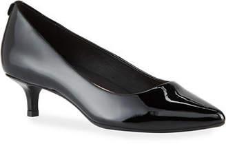 Taryn Rose Naomi Kitten-Heel Patent Comfort Pumps